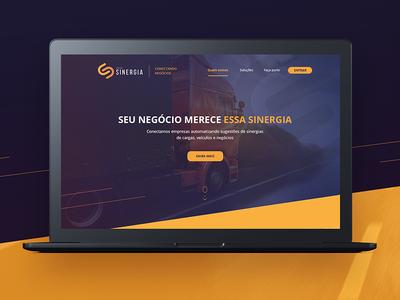 Website Gerasinergia sinergia ux ui truck homepage