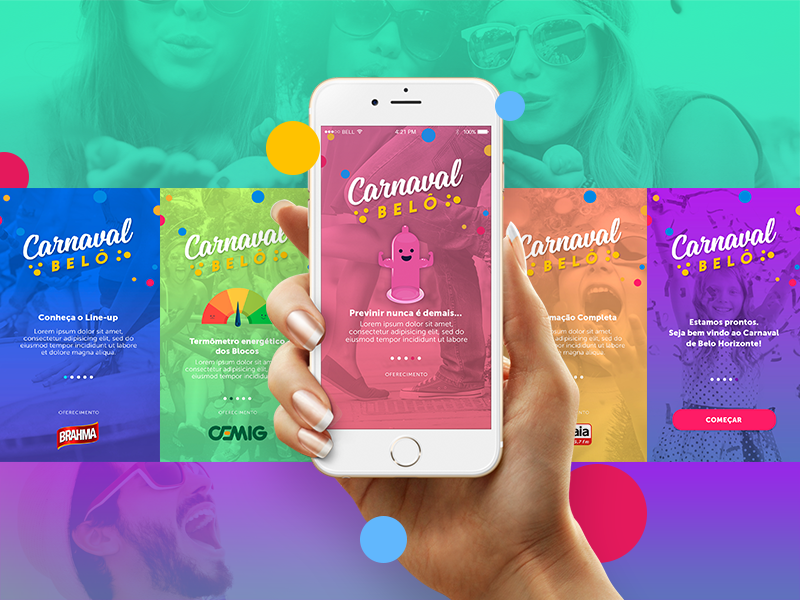 Carnabelo App ui ux brazilian carnaval app