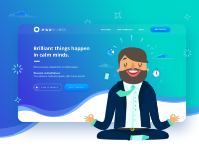 Mindfulness - Meditation App app ui ux meditation mindfulness