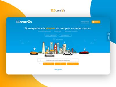 123carros - homepage car automotive startup 123carros cars