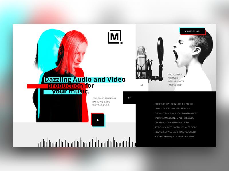 Music Studio Concept studio website ui music
