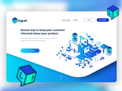 Loguel - Website website landing page ux ux ui design ui