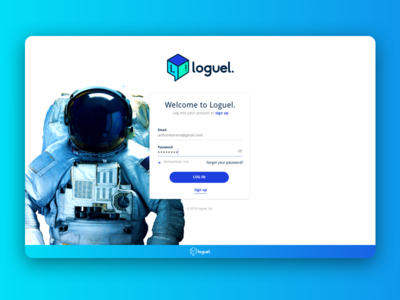 Login Screen - Loguel ui login