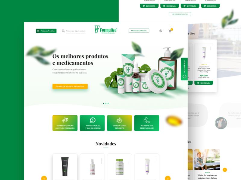 Formulize - Phamarcy Website ecommerce product design ux ui