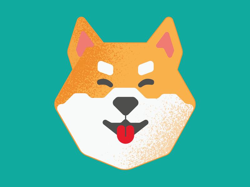 Doggo 🐕 dog minimal flat web logo icon branding vector illustration