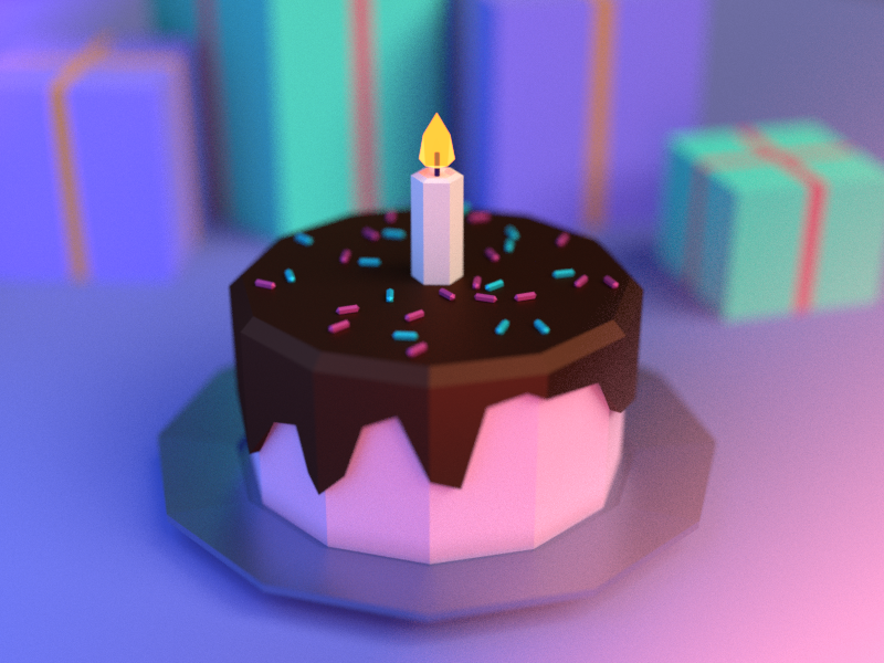 Brilliant Virtual Birthday Cake By Marta Ciecholewska On Dribbble Funny Birthday Cards Online Barepcheapnameinfo