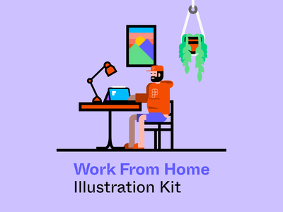 Work From Home Illustration Kit illustrations furniture character free figma work from home wfh system modular illustration