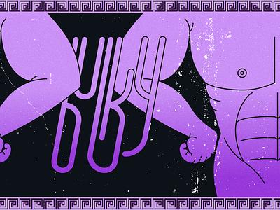 Inktober 2020 #3 - Bulky lgbt figma inktober2020 muscle texture font pottery purple sassy greek inktober