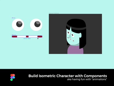 Build Isometric Characters with Components, on Figma face mouth eyes components weird animation character animation interactive character isometric fun figma