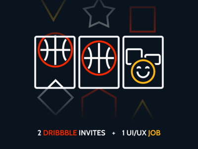 2 Dribble Invite + 1 UI/UX job Opportunity