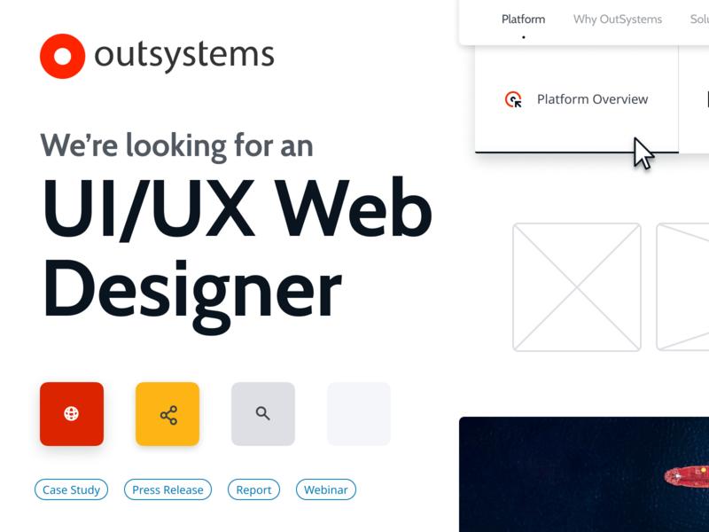 UI/UX Web Designer Job @ OutSystems job board jobs job lisbon portugal outsystems low code lowcode tech unicorn design system color design branding icon webdesign web uiux ux ui