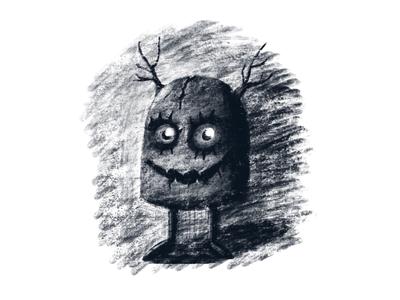 Sketchy Figures creepy character dark sketch illustration