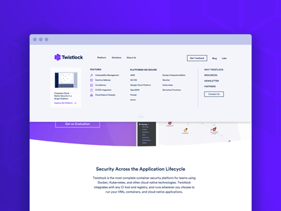 Menu Dropdown UI web  design ui