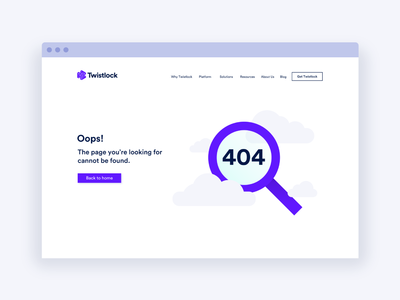 Twistlock 404 Page ui 404 web  design