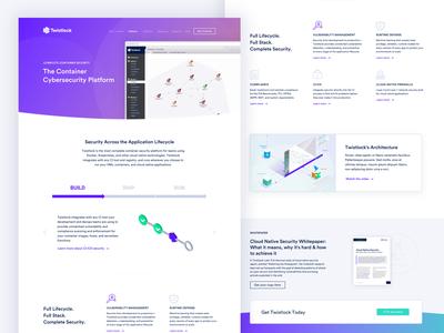 Twistlock Platform Page branding web  design ui