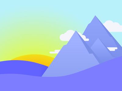Mountain Landscape Illustration graphic vector illustration
