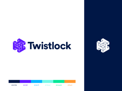Twistlock Brand: New color palette branding and identity branding palette color