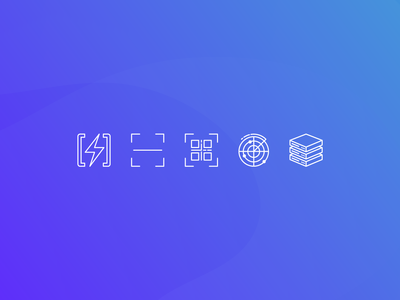 Assorted tech icons branding icon set cyber tech iconography