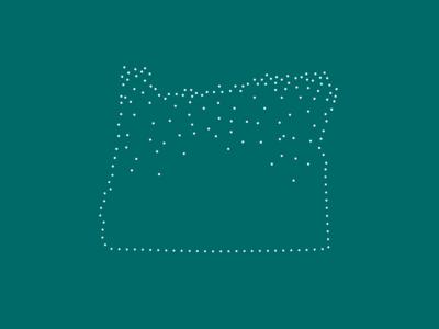 Oregon Constellation Illustration logo vector minimal illustration