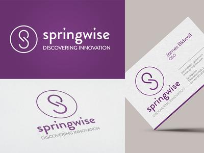 Springwise Logo identity brand card purple springwise branding logo