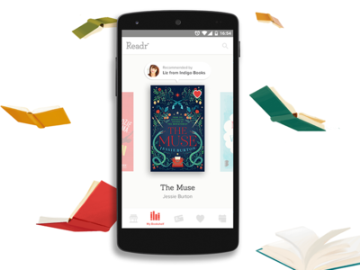 Readr - a bookstore in your pocket books illustration interface ui mobile app readr