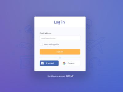A simple login modal ux join social signup modal login log in