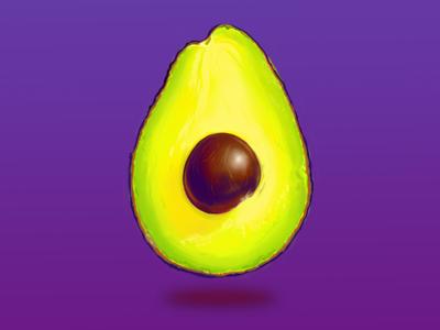 Avocado digital painting food avocado photorealistic photoshop illustration