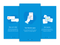 Onboarding screens for our new release of the Mendix App