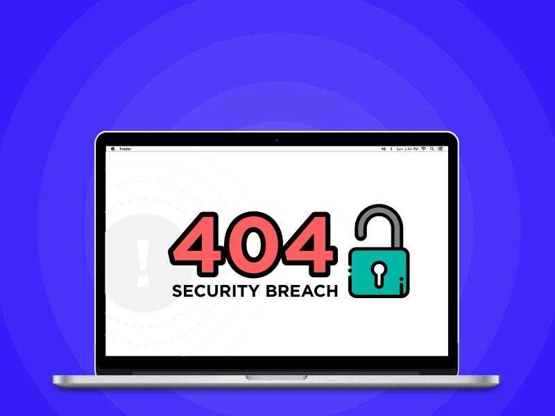 Security breach error 404 error security website design website web design webdesign web uxdesign ui  ux design uidesign ux ui graphic design graphicdesign diseño grafico design