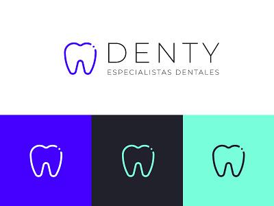 Denty Logo dentists dentist logo dentist dental care dental clinic dental logo dental logo design logos logodesign logotype typography logo graphic design graphicdesign diseño grafico design