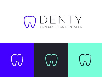 Denty Logo dentists dentist logo dentist dental care dental clinic dental logo dental logo design logos logodesign logotype typography logo graphic design graphicdesign diseño grafico design