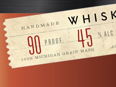 90 Proof whiskey whisky proof form tag