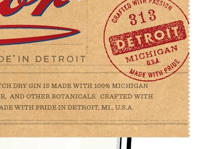 313 detroit tag perf perforation label badge form