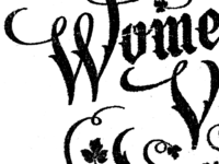 Ladies like blackletter, right?