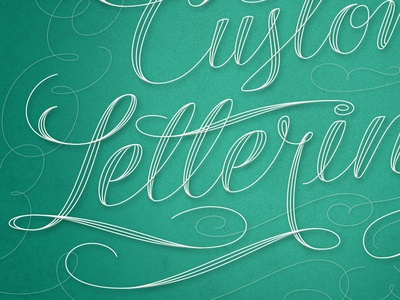 Custom Lettering, Detail filigree spencerian custom script flourish typography lettering