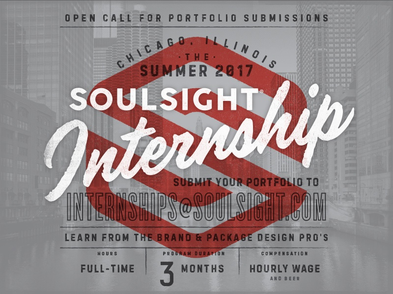Soulsight Summer Internship packaging package branding brand chicago soulsight
