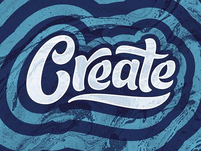 Create script drop create psychedelic lettering