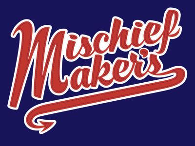Mischief Makers Jacket Script, Cont'd. mischief makers script type typography
