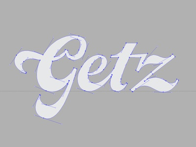 Getz Refreshed type typography lettering logo script