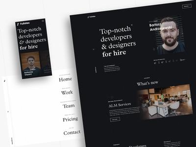 Landing Page for Full Stack Designers & Full Stack Developers