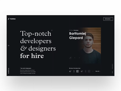 Landing Page UI Animation for Full Stack Designers & Developers
