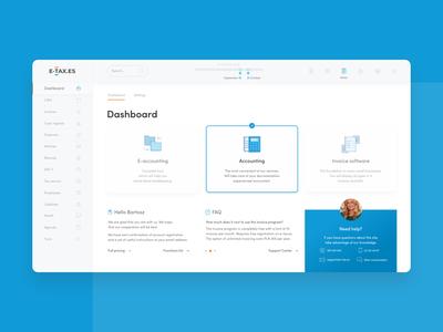 Bookkeeping Web App Dashboard / Platform UI