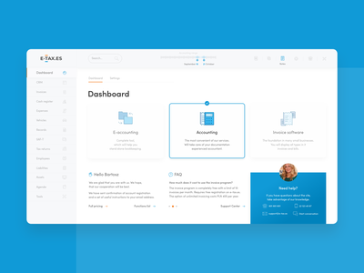 Bookkeeping Web App Dashboard / Platform UI calendar statistics tablet web admin panel stats app dashboard app design ui dashboad