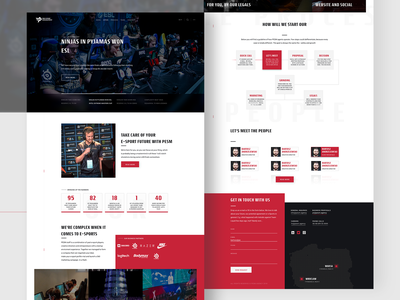 Website (Onepage) for esport agency agency landing page typography vector animation design logo madewithxd adobe xd adobexd website design website