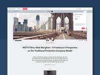 Movidiam Blog Redesign