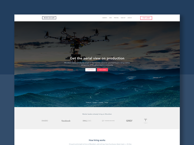 Movidiam Landing Page Design debut photography landing page ux ui