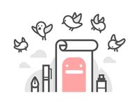Birdie sketch
