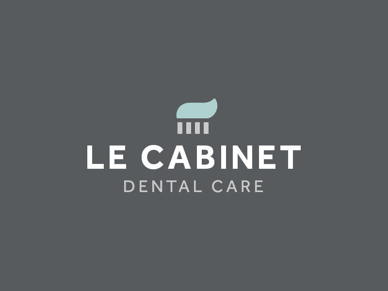 Le Cabinet Dental Care minimal logo minimalism brush tooth brush toothpaste dental clinic dentist