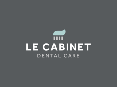Le Cabinet Dental Care minimal logo minimalism brush tooth brush toothpaste dental clinic dentist