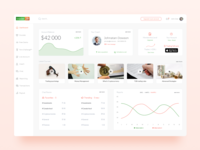 Trading Dashboard warm ui design user experience user interface visualization oranges data charts green red pink trading educational stocks dashboard
